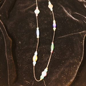 Jewelry - Beaded long handmade glass beads necklace